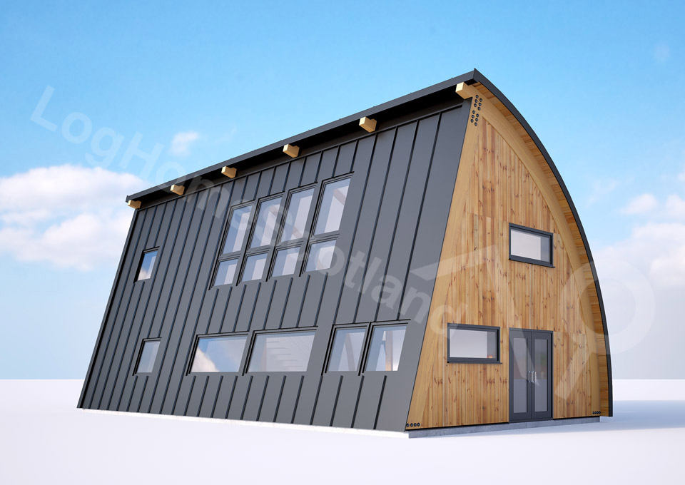The Bow House 2 Amp 3 Bedroom Eco Homes Log Home Scotland