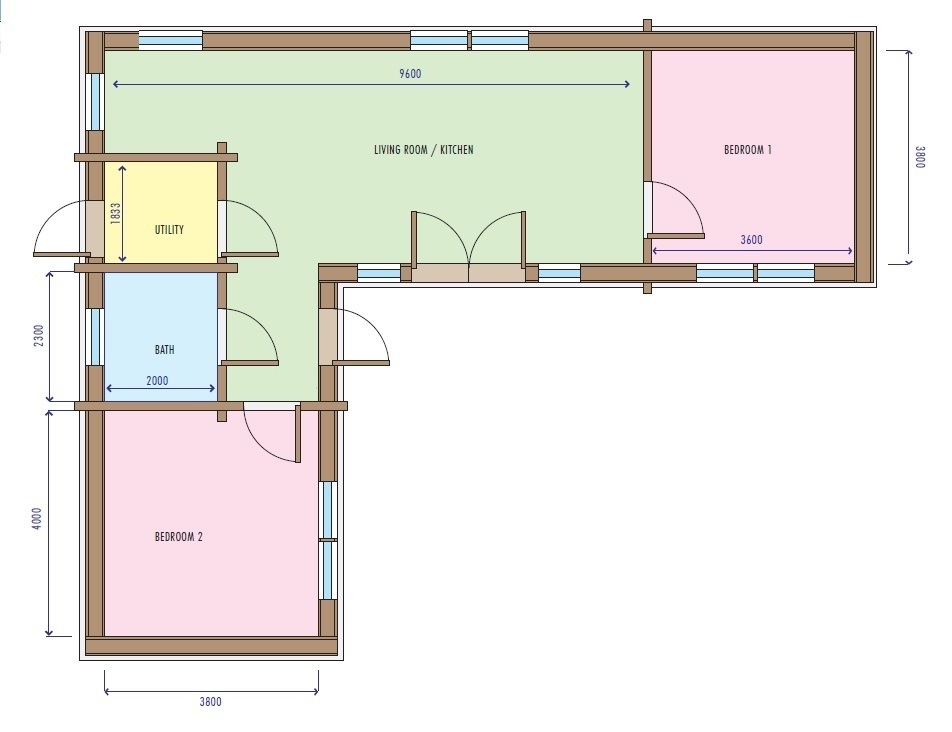 Eco House Maggie floorplan