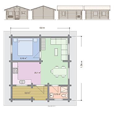 venkovsk d m 50 sqm house design